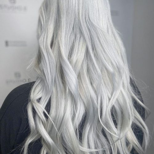 Silver hair style