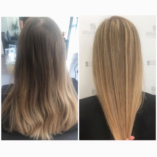 womans cut and colour marston